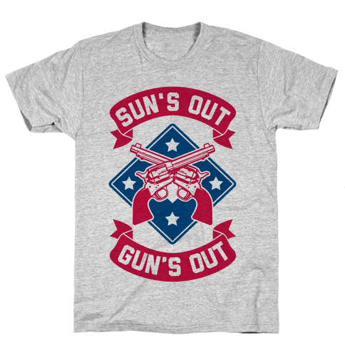 Sun's Out Gun's Out (Merica) Mens T-Shirt