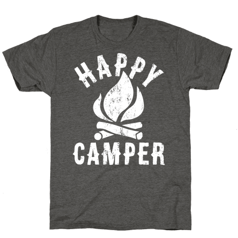 Happy Camper Mens/Unisex T-Shirt