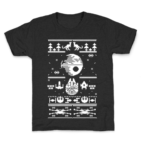 Scifi Spaceship Christmas Kids T-Shirt