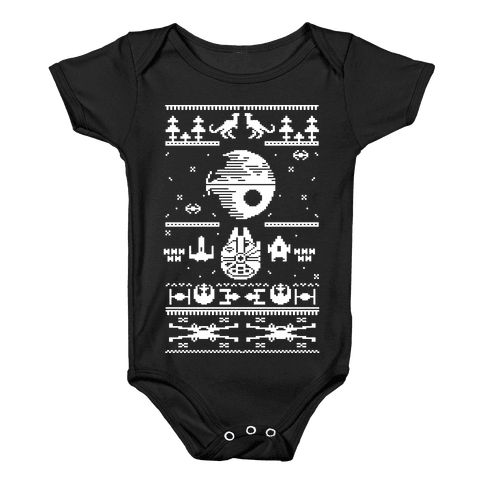 Scifi Spaceship Christmas Baby Onesy