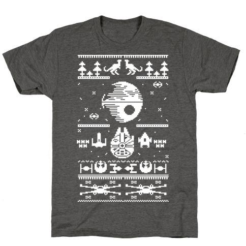 Scifi Spaceship Christmas T-Shirt