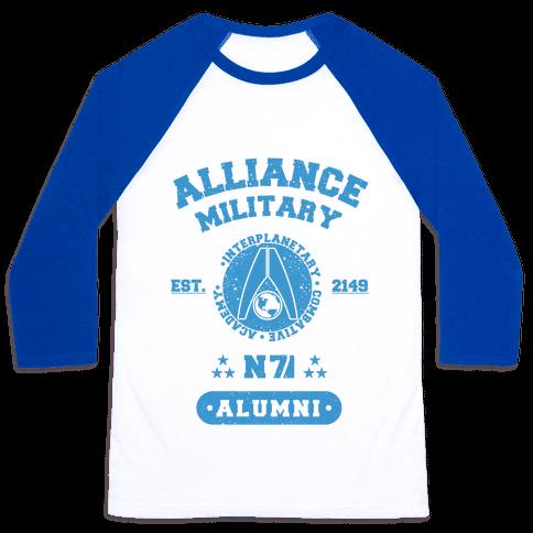Alliance Military Alumni Baseball Tee