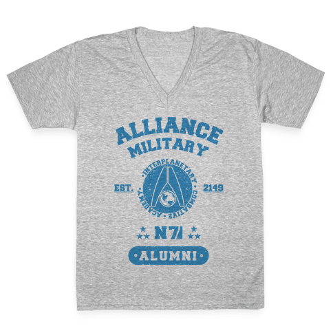 Alliance Military Alumni V-Neck Tee Shirt