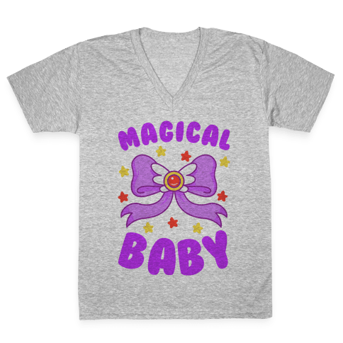 Magical Baby (Purple) V-Neck Tee Shirt