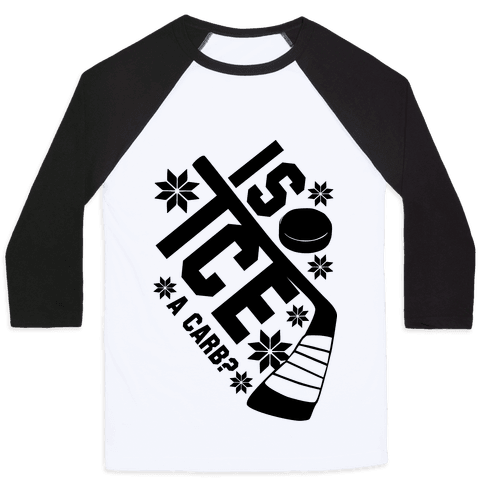 Is Ice A Carb? Baseball Tee