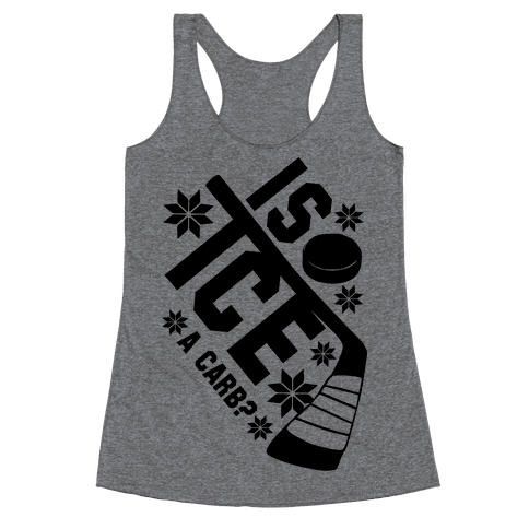Is Ice A Carb? Racerback Tank Top