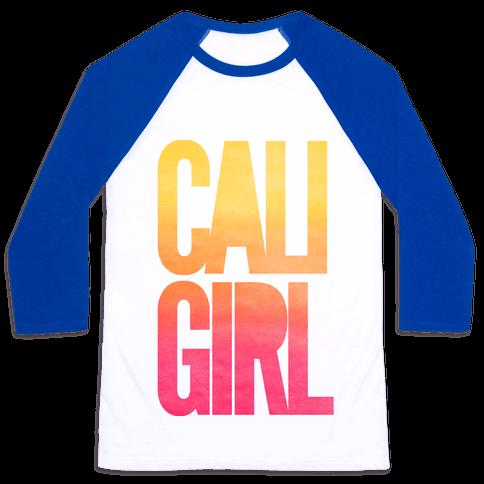 Cali Girl Baseball Tee