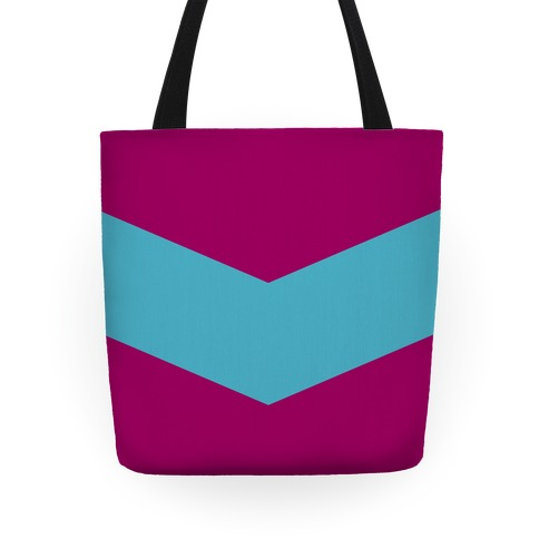 Blue Chevron Stripe Tote Tote