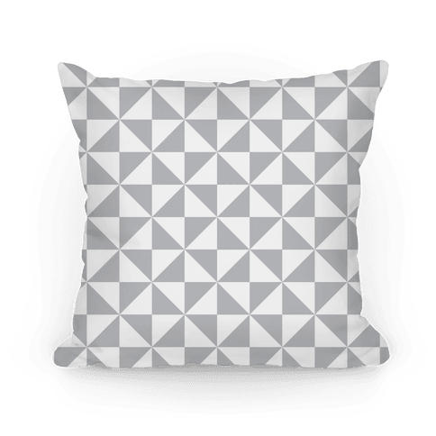 Gray Large Pinwheel Pattern Pillow
