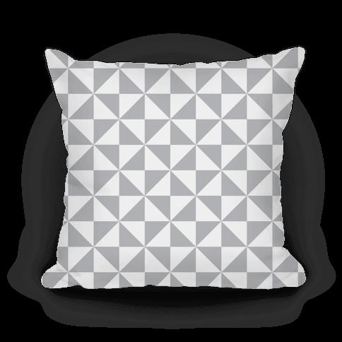 Gray Large Pinwheel Pattern
