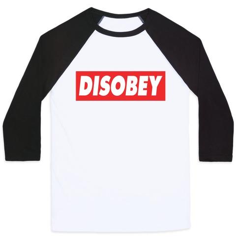 Disobey Baseball Tee