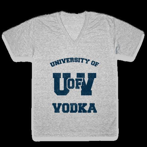 University Of Vodka V-Neck Tee Shirt