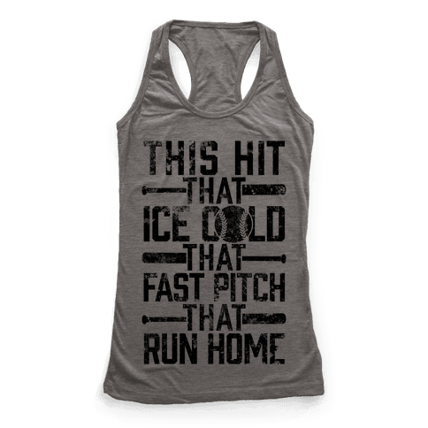 Uptown Softball Racerback Tank Top