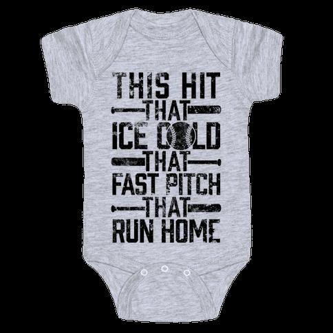 Uptown Softball Baby Onesy