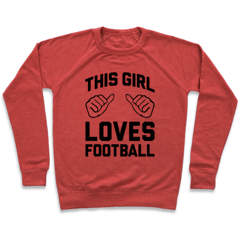 This Girl Loves Football Pullover