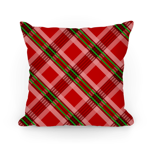Classic Red Plaid Pillow Pillow