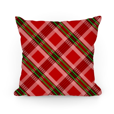Classic Red Plaid Pillow