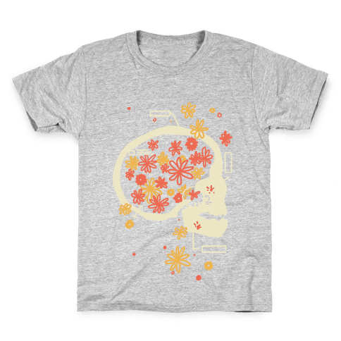 Terminal Daydream Flower Skull Kids T-Shirt