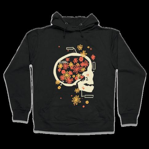 Terminal Daydream Flower Skull Hooded Sweatshirt
