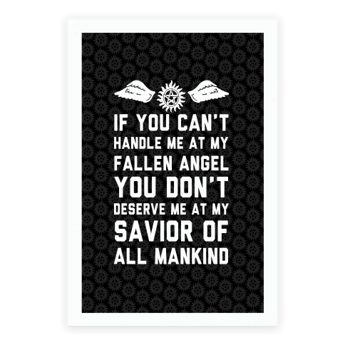 If You Can't Handle Me At My Fallen Angel Poster