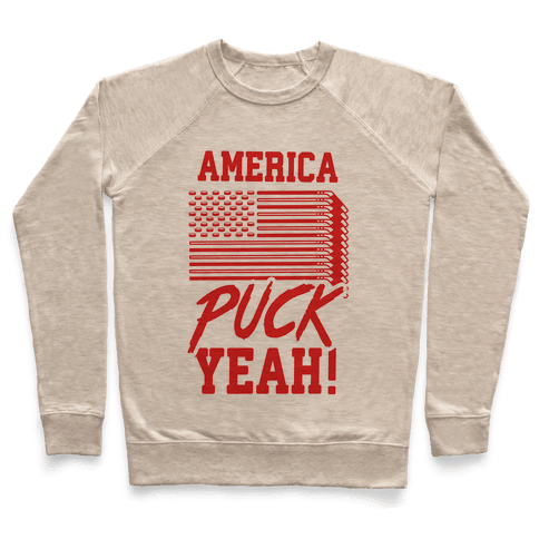 America Puck Yeah Hockey Flag Pullover