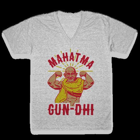 Mahatma Gun-dhi V-Neck Tee Shirt