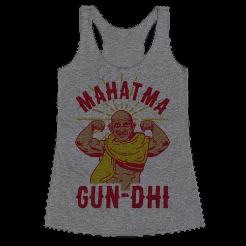 Mahatma Gun-dhi Racerback Tank Top