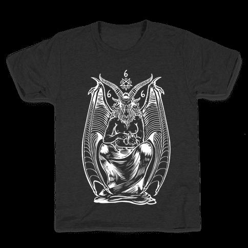 Pet Cats. Hail Satan. Kids T-Shirt