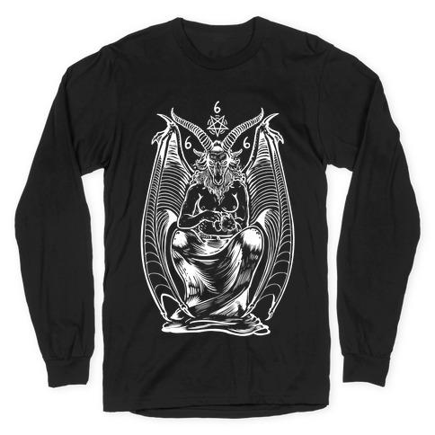 Pet Cats. Hail Satan. Long Sleeve T-Shirt