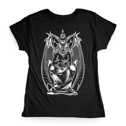 Pet Cats. Hail Satan. Womens T-Shirt
