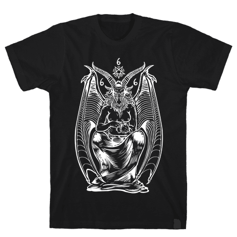 Pet Cats. Hail Satan. Mens T-Shirt