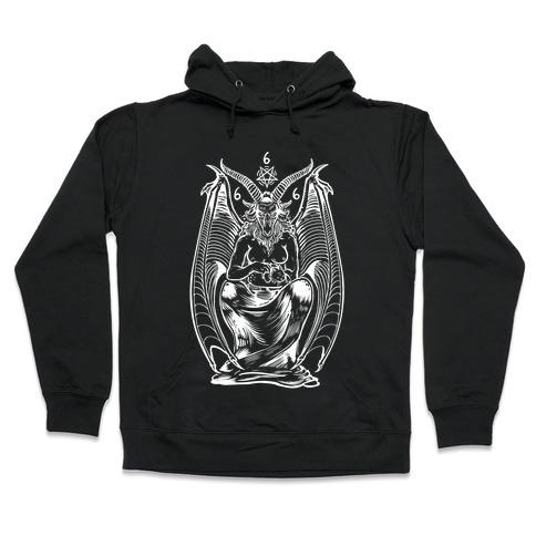 Pet Cats. Hail Satan. Hooded Sweatshirt