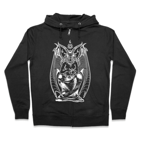 Pet Cats. Hail Satan. Zip Hoodie