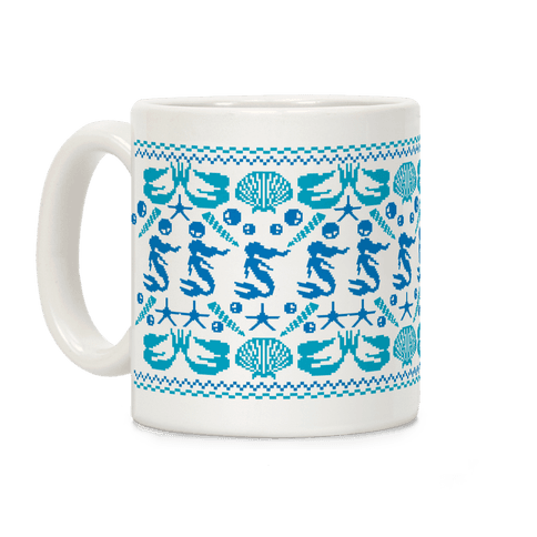 Ugly Mermaid Sweater Coffee Mug