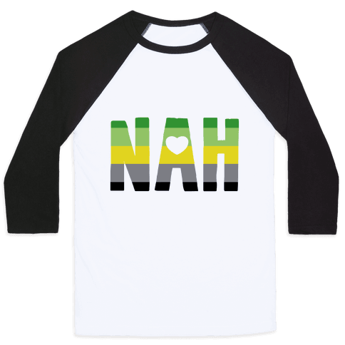 NAH- Aromantic Pride Baseball Tee