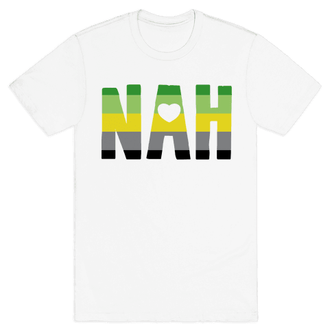 NAH- Aromantic Pride Mens T-Shirt