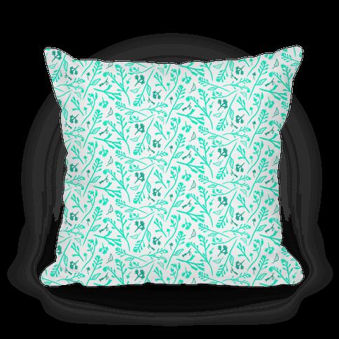 Lovely Wildflower Meadow Aqua Pattern