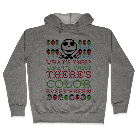 Skellington Ugly Sweater Hooded Sweatshirt