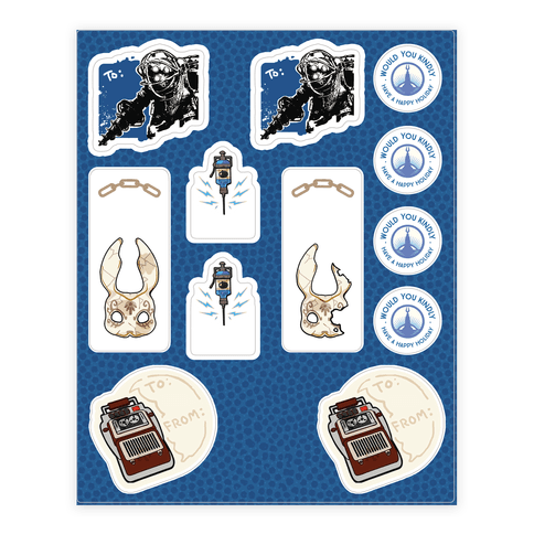 Bioshock Gift Tag  Sticker/Decal Sheet