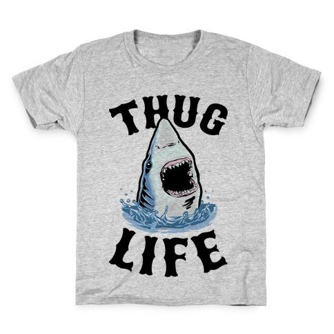 Thug Life Shark Kids T-Shirt