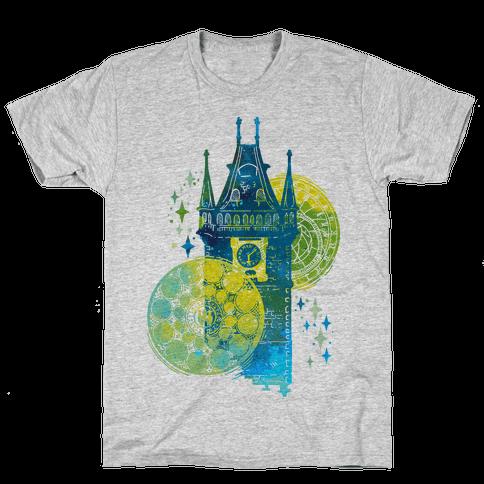 Prague Astronomical Clock Mens T-Shirt