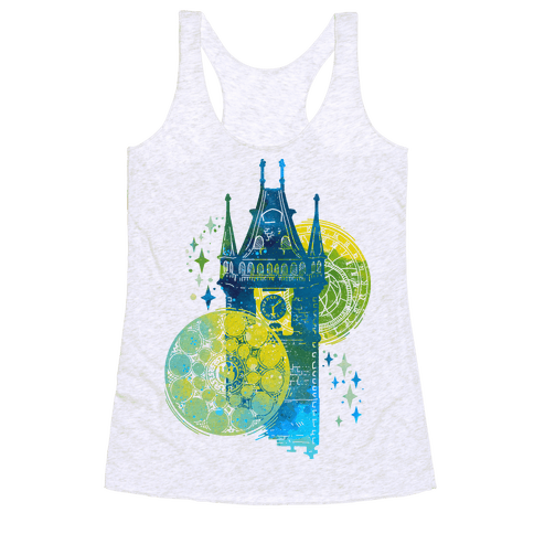 Prague Astronomical Clock Racerback Tank Top