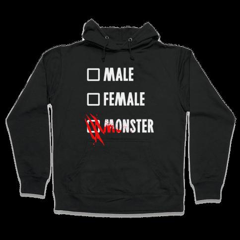 Male Female Monster Hooded Sweatshirt