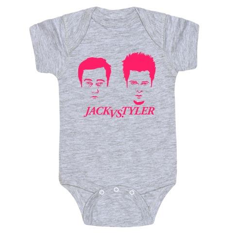 Jack Vs Tyler Baby Onesy