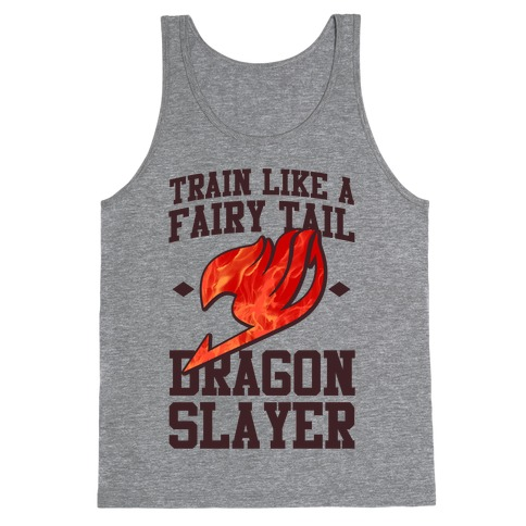Train Like a Fairy Tail Dragon Slayer (Natsu) Tank Top