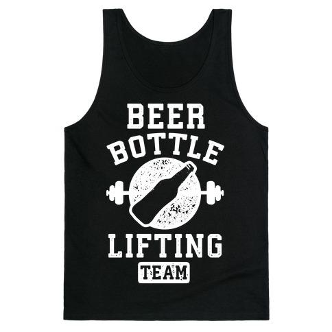 Beer Bottle Lifting Team Tank Top