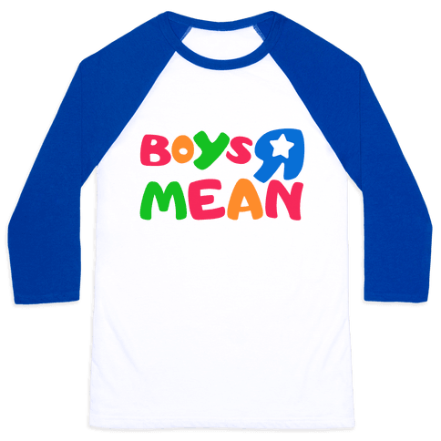 Boys R Mean Baseball Tee