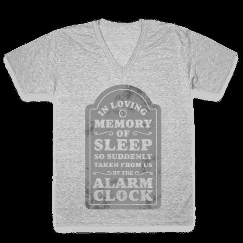 I Memory of Sleep V-Neck Tee Shirt