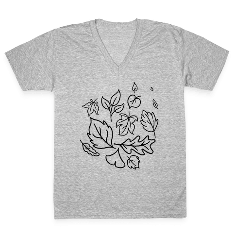 Autumn Leaves V-Neck Tee Shirt