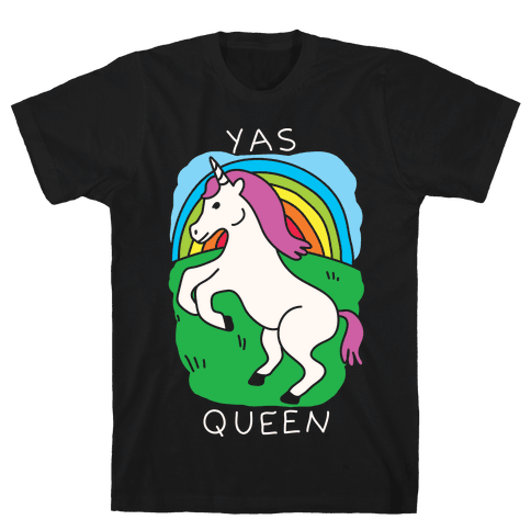 Yas Queen Unicorn Mens T-Shirt